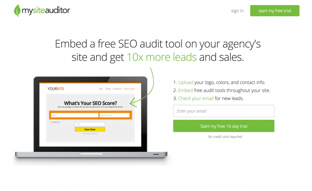 my site auditor seo audit tool